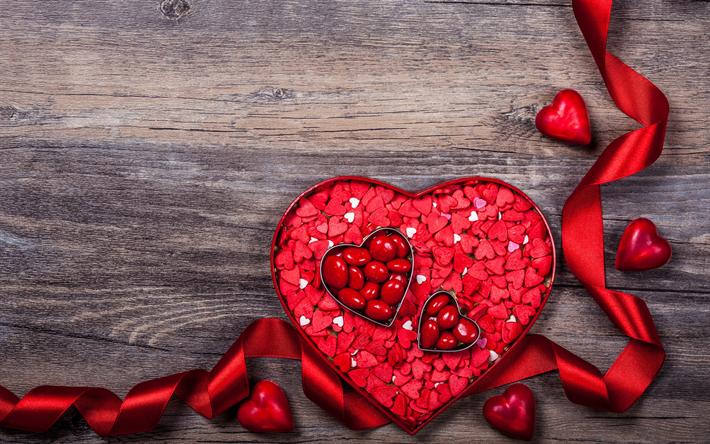 Scarica sfondi felice giorno di san valentino cuore rosso - Colore del giorno di san valentino ...