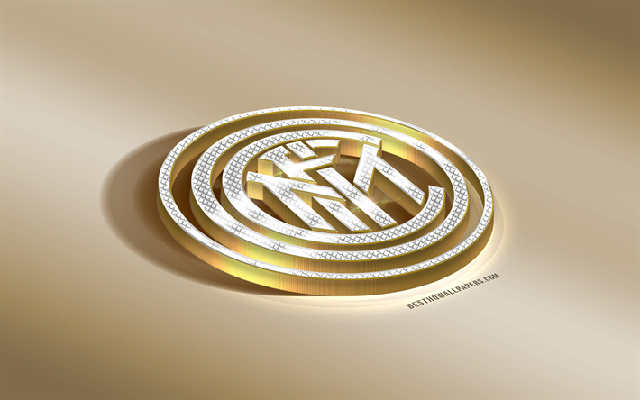 Download Wallpapers Fc Internazionale Inter Milan Fc Italian Football Club Milan Italy Serie A Internazionale Logo Golden 3d Emblem Diamond Logo 3d Art For Desktop Free Pictures For Desktop Free