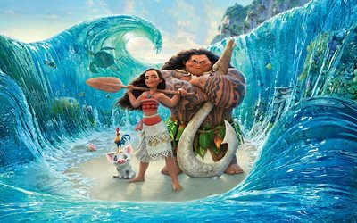 Moana, 2016, Walt Disney Pictures, Pacific, dreamer, Moana Rollers
