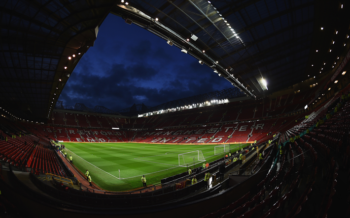 Download Wallpapers 4k Old Trafford Football Stadium Manchester United England Premier League Mu Stadium For Desktop Free Pictures For Desktop Free