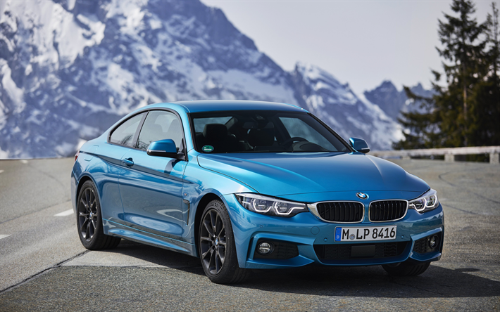 download wallpapers bmw 4 2017 4k sports coupe sky blue m4