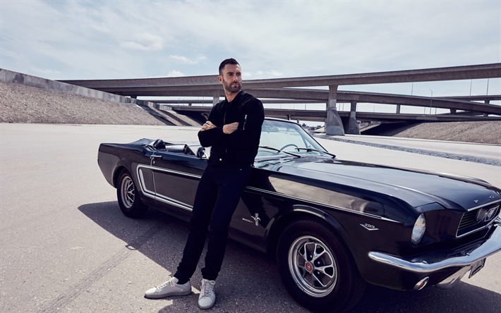 Adam Levine, american singer, photoshoot, american star, ford mustang, Maroon 5, Vogue