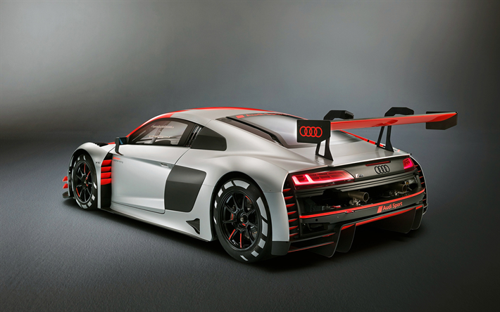 Download Wallpapers Audi R8 Lms Gt3 2019 Rear View Racing Car