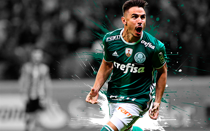 Download Wallpapers Willian, 4k, Art, SE Palmeiras Striker