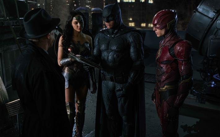 Download Wallpapers Justice Leagu 2017 Gotham City Flash