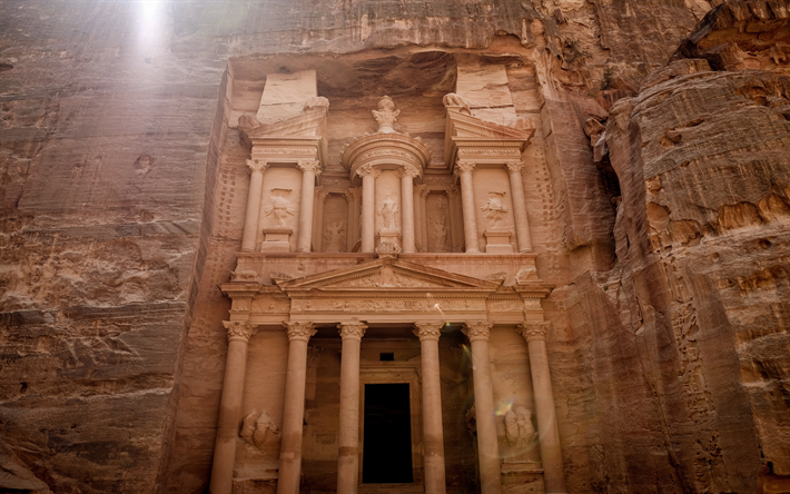 Petra, ancient city, Sik Canyon, Jordan, tourism, travel, interesting places, attractions