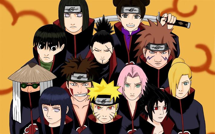 Download Wallpapers Naruto Japonese Manga Characters Kiba Choji