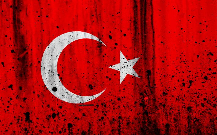 Turkish Flag 4k Grunge Of Turkey Europe National Symbols