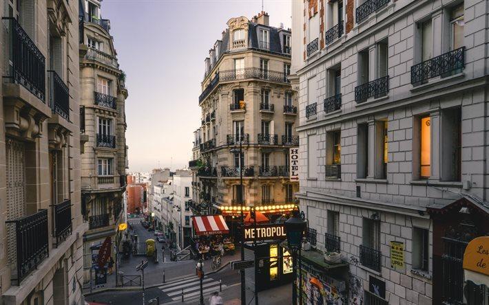 scarica sfondi parigi citt quartieri francia strade di parigi viaggi a parigi per desktop. Black Bedroom Furniture Sets. Home Design Ideas