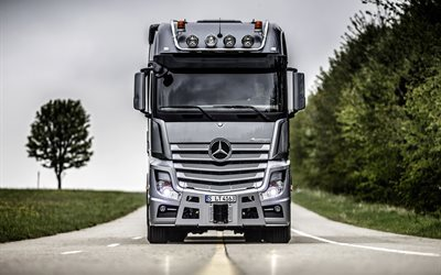 Mercedes Actros, 2016, truck, cab, new trucks, Mercedes