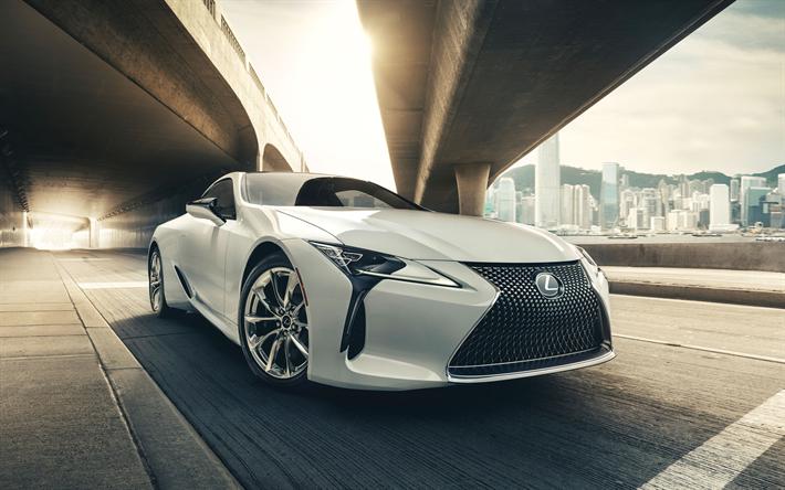 Download Wallpapers 4k Lexus Lc 500 Street 2017 Cars