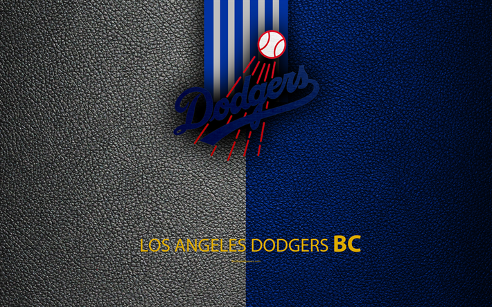 Download wallpapers Los Angeles Dodgers, 4K, American