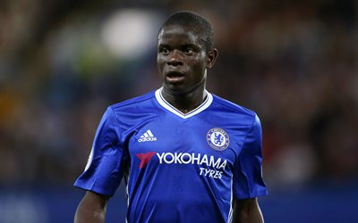 NGolo Kante, French footballer, 4k, Chelsea, England, Premier League, football