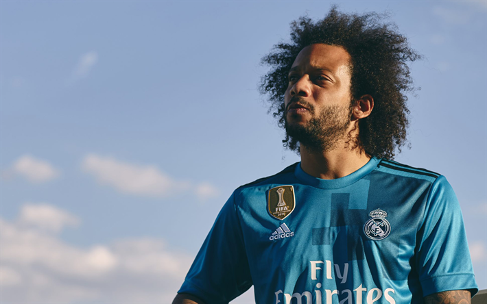 Marcelo Real Madrid Brazilian Footballer Portrait 4k Spain La Liga