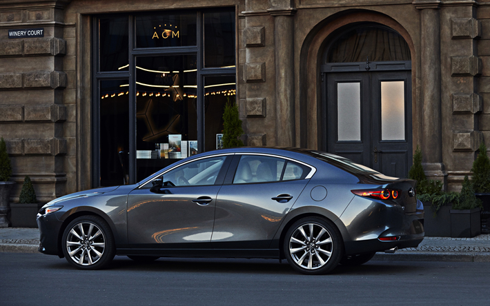 Mazda 3 2019 Sedan Side View C Cl Rear Optics