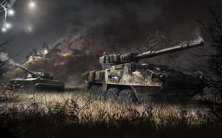 Armored Warfare, modern armored vehicles, online tanks, military online games, poster