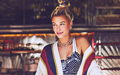 Hailey Baldwin, 2018, photoshoot, Harper Bazaar, 4k, movie stars, american models, Hollywood, beauty