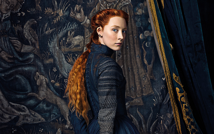 Mary Queen of Scots, 2018, 4k, Mary Stuart, Saoirse Ronan, poster, new historical film, promo