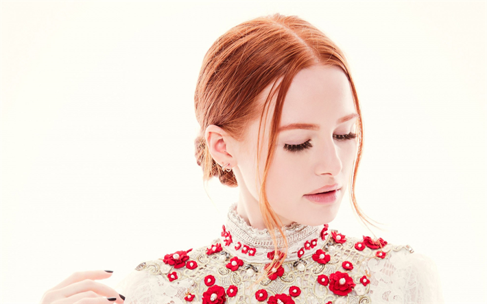 Madelaine Petsch, portrait, american actress, photoshoot, beautiful makeup, hollywood, star