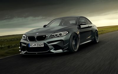 AC Schnitzer, tuning, BMW M2, supercars, F87, 2019 cars, customized BMW M2, german cars, BMW F87, racing cars, BMW, HDR