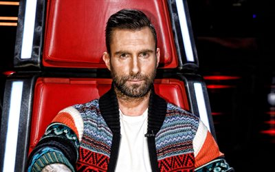 Adam Levine, American singer, portrait, photoshoot, Coach USA Voice, popular american singers