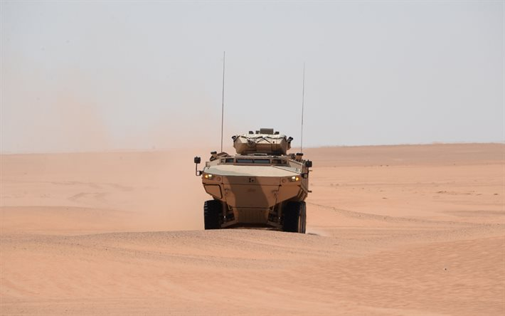 FNSS Pars, 8x8, Armoured combat vehicle, turkish armored vehicle, FNSS Defence Systems, armored vehicle in the desert, Turkey