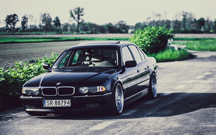 Télécharger Fonds D'écran 4k, BMW Série 7, Route, 740iA