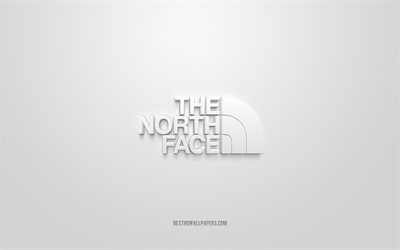 Le logo North Face, fond blanc, Logo 3D The North Face, art 3D, The North Face, logo des marques, Logo The North Face, logo blanc 3d The North Face