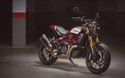 Indian FTR Carbon, 4k, parking, 2021 vélos, superbikes, 2021 Indian FTR Carbon, Indian Motorcycle