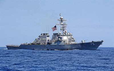 USS Donald Cook, DDG-75, guided missile destroyer, US Navy, US destroyer, US warships, Arleigh Burke-class