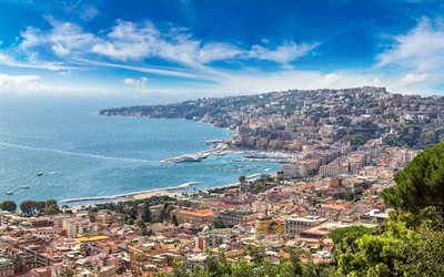 Naples, Bay, Gulf of Naples, Tyrrhenian Sea, Sorrento, summer, Italy