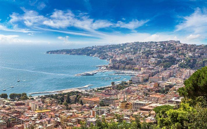 Scarica Sfondi Napoli Baia Golfo Di Napoli Mar Tirreno Sorrento