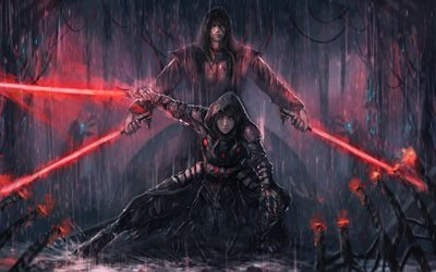 Star Wars Knights of the Old Republic II-Os Lordes Sith, caracteres, arte