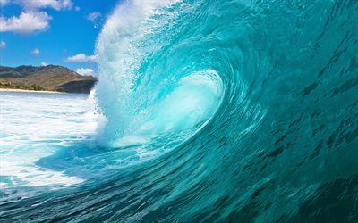 Ocean, wave, water, blue water, big wave