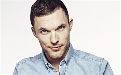 Ed Skrein, English actor, portrait, photoshoot, famous actors