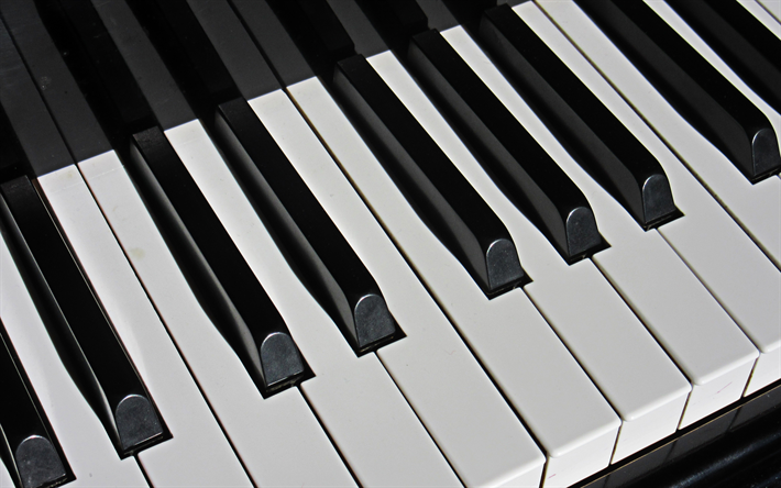 Download Wallpapers Piano Keys 4k Musical Instruments