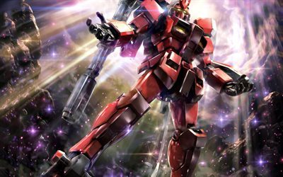Mobile Suit Gundam, Ortega, red robot, Gundam, characters, popular games