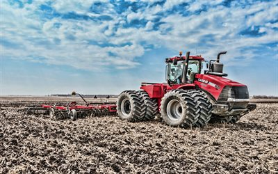 Case IH Steiger 620 HD, 4k, plowing field, 2019 tractors, agricultural machinery, HDR, tractor in the field, agriculture, Case