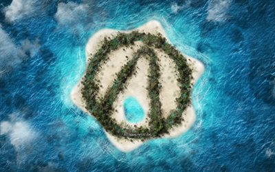 Borderlands 3, logo, creative art, tropical island, popular games, island logo, ocean, Borderlands