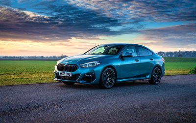 BMW 218i Gran Coupe M Sport, 4k, road, F44, 2020 cars, UK-spec, BMW F44, 2020 BMW 2-series Gran Coupe, BMW