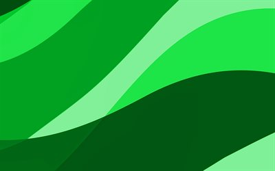 green abstract waves, 4k, minimal, green wavy background, material design, abstract waves, green backgrounds, creative, waves patterns