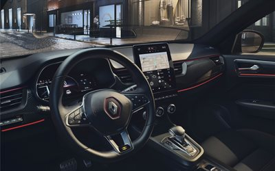 Renault Arkana, 2021, interior, inside view, dashboard, new Arkana interior, French cars, Renault