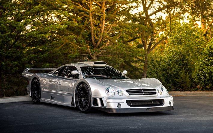 Hämta bilder Mercedes-Benz CLK GTR, AMG, Coupe, Superbil, sportbil, Tyska bilar, Mercedes fri. Bilder gratis skrivbordsunderlägg