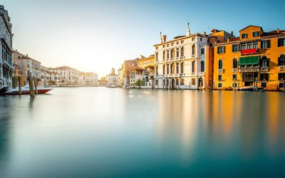 Venice, Italy, evening, travel, canal