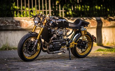 Honda CX500 Cafe Racer, superbikes, 2020 bikes, black motorcycle, 2020 Honda CX500, Honda