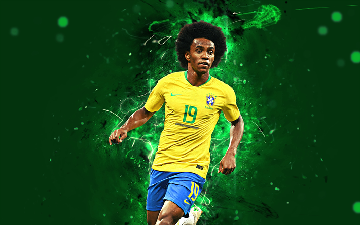 Download Wallpapers 4k, Willian, Abstract Art, Brazil