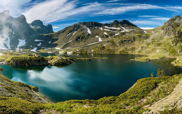 Telecharger Fonds D Ecran Lac Robert Lac De Montagne Ete Paysage De Montagne De Belledonne De Montagnes Les Alpes France Pour Le Bureau Libre Photos De Bureau Libre