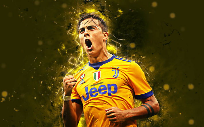 superior quality 78e3f 4d183 Download wallpapers Paulo Dybala, 4k, abstract art, Juventus ...