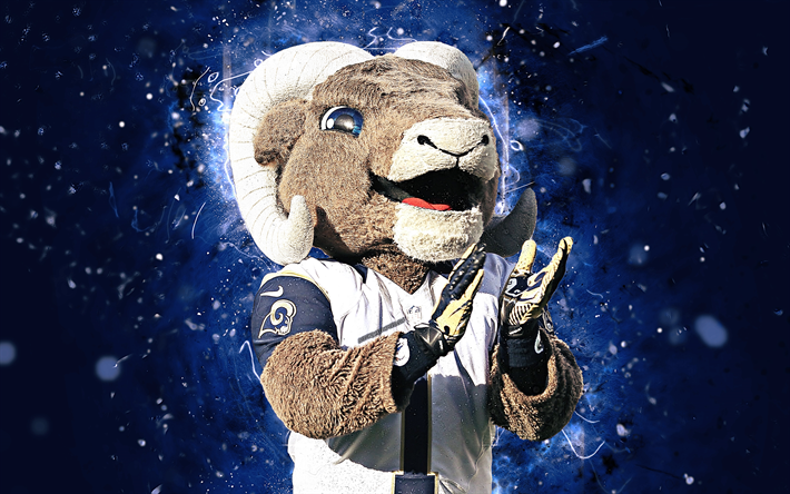 Rampage 4k Mascot Los Angeles Rams Abstract Art NFL Creative