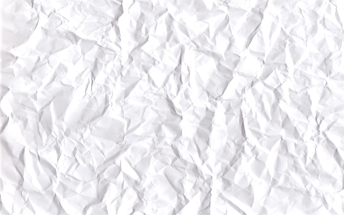 white paper texture, 4k, white crumpled paper, macro, white paper, vintage texture, crumpled paper, paper textures